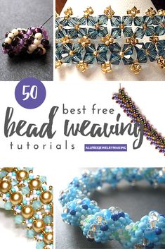 50 Best Free Bead Weaving Patterns - a good way to work your way through many of the basics. ~ Seed Bead Tutorials