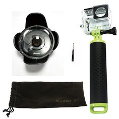 SHOOT 4'' inch Dome Port Diving Housing with Transparent Lens Cover, Waterproof Case, Lens Hood and Floaty Monopod for Xiaomi Xiaoyi Yi 1 Action Camera Underwater Photography * Continue to the product at the image link. (This is an Amazon Affiliate link and I receive a commission for the sales)