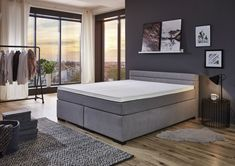 Boxspringbett 180 x 200 cm BX 1750 h2h3 grau » Mega Möbel Mattress, Modern, Furniture, Home Decor, Home Living Room, Pool Chairs, Trendy Tree, Decoration Home, Room Decor