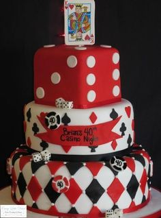 Casino themed birthday cakes 7 trendy inspiration playing card poker theme and cupcakes Themed Birthday Cakes, Themed Cakes, 40th Birthday, Birthday Parties, Casino Party Decorations, Casino Theme Parties, Party Themes, Party Ideas, Fète Casino