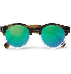 Illesteva - Leonard Half/Half Round-Frame Acetate Sunglasses|MR PORTER