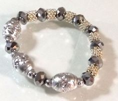 Today only! Get special deal of the day! This crystal stretch bracelet has everyday appeal. Shop now: https://www.noblag.com/fashion-jewelry/silver-tone-beaded-stretch-bracelet.html