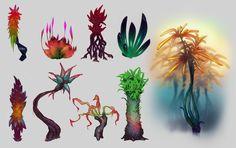 ART OF JUSTIN SPICE: Alien plants