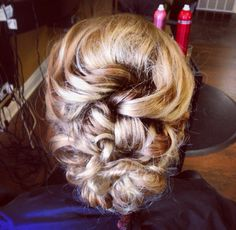 Updo I did ! #homecoming #hair #braid