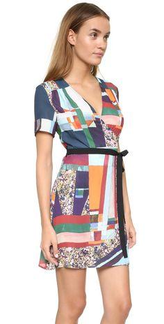 Clover Canyon Modern Mosaic Wrap Dress | SHOPBOP