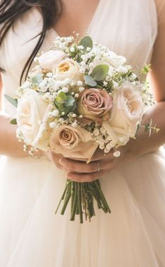 Pink and white bridal flowers