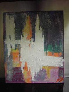 """""""EXPLOSION"""" 60 x 50 cm - Abstract Painting - Own Work - Made by MIK (miek de keyser - Ranst - Belgium)"""