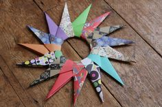 Traditional Paper Star . . .  this is what happens when you leave a 10yo with some origami paper