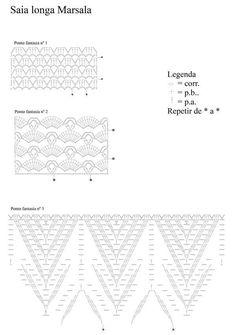 SAIA LONGA MARSALA                     Saia longa marsala   Material:   Círculo – Charme – 4 nov. marrom (7311);   Ag. para crochê Círculo ...