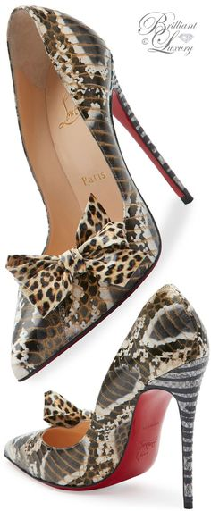 Brilliant Luxury * Christian Louboutin Madame Menodo Snakeskin