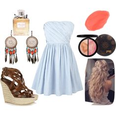 summer love, created by clairebear2799 on Polyvore