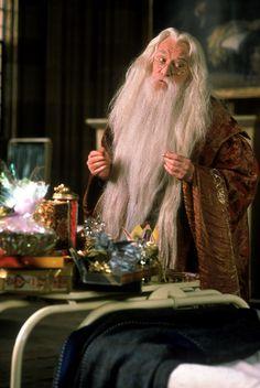 Richard Harris as Professor Albus Dumbledore in Harry Potter and the Sorcerer's Stone Harry Potter Day, Harry Potter Characters, Richard Harris Dumbledore, Saga, Fans D'harry Potter, Hogwarts Professors, Welcome To Hogwarts, Philosophers Stone, Harry Potter Merchandise