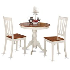 Dazzling Antique Small Table Set Contributes Elegance To All Kitchen Or  Your Morning Meal Nook. 3 Piece Dining ...