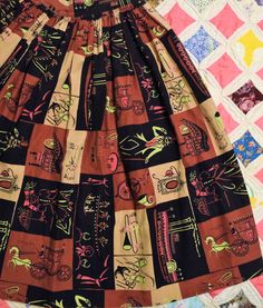 Vintage New Orleans Novelty Print Skirt