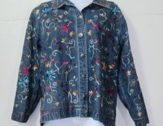 S Jean Jacket Embroidered Decorations Small Life Style HMO