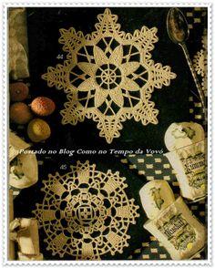 Lace crochet motifs