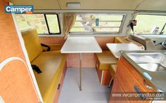 High maintenance, prone to erratic behaviour and financially draining. We are, of course talking about an old VW Bus - a Bay Window Westfalia to be precise Volkswagen Bus Interior, Vw T2 Camper, Vw Bus T2, T3 Vw, Campervan Interior, Kombi Trailer, Trailers, Kombi Clipper, Combi T2