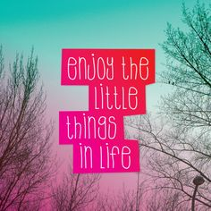 Enjoy the little things in life Little Things, Happy Quotes, Spelling, Like Me, Texts, Qoutes, Bullet Journal, Feelings, Words