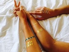 50% OFF + FREE SHIPPING on all our collections of golden metallic temporary jewelry tattoos!! Visit www.goldensoultattoos.com to Shop til' You Drop!!