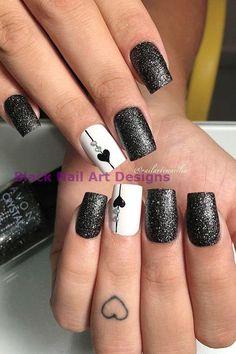54 Elegant Black Nail Art Designs and Ideas Loading. 54 Elegant Black Nail Art Designs and Ideas Black Nail Designs, Winter Nail Designs, Winter Nail Art, Acrylic Nail Designs, Winter Nails, Acrylic Nails, Coffin Nails, Heart Nail Designs, Popular Nail Designs