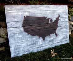 Painted Therapy: Pallet Art - USA map