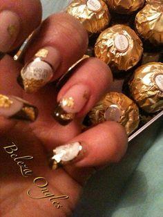 Nails Fererro rocher