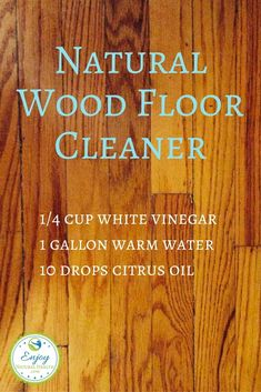 I use and LOVE this natural wood floor cleaner instead of toxic (and expensive) commercial cleaners.