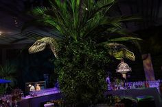 'Jurassic World': The premiere party included various actual props from the movie for a Jurassic-era look and feel.
