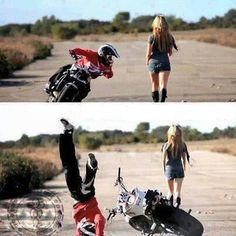 Bike Tricks Gone Wrong Girl watching gone wrong