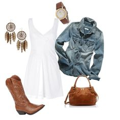 Cute & Country(: Not too much jewlry... that's nice for a change!