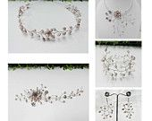 Bridal Wedding Jewelry Set Freshwater Pearl Wired Design Tiara, Necklace, Hair accessories, Bracelet and Earring - free shipping