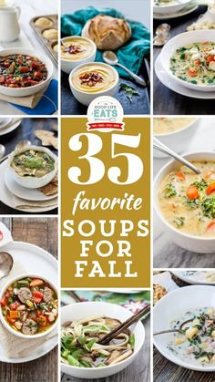 The chilly evenings are coming around more frequently now, so it is time to pull out these 35 Soup Recipes for Fall and get them into the recipe rotation! These soup recipes are tried and true with many great reviews, so be sure to check them out! What are your favorite fall soups? We have had our first snow last week – I've even had to turn the heater on, so it has me brainstorming all of my favorite Fall Soup Recipes to start throwing into the meat plan rotation. | @goodlifeeats #fallsoup Roasted Red Pepper Soup, Roasted Butternut Squash Soup, Fall Soup Recipes, Dinner Recipes, Slow Cooker Ham Soup, Whole Food Recipes, Healthy Recipes, Healthy Eats, Chicken Curry Soup
