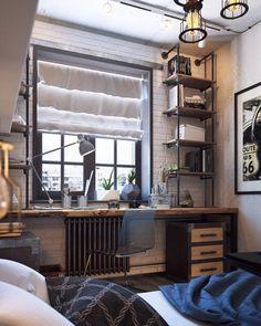 Decor Room Boy Home Office Super Ideas Boys Room Design, Loft Design, Home Office Design, House Design, Home Interior, Interior Design, Boys Bedroom Decor, Decor Room, Teenage Room