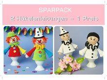 Häkelanleitung Eierwärmer Clown + Pierrot, Sparpack