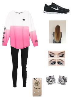 """""""Pink & Nike"""" by petite-chic ❤ liked on Polyvore featuring NIKE, Victoria's Secret, Tiffany & Co. and Casetify"""