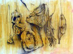 AS art exam drawing - graphite on acrylic wash