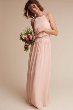 BHLDN's Donna Morgan Alana Dress in Blush #bridesmaidsdresses