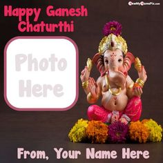 Name with photo add greeting card festival happy ganesh chaturthi, online create my name and photo create beautiful lord ganesha images, ganesh chaturthi wishes photo frame whatsapp profile, latest personalized name with photo creator tool bal ganesha chaturthi wallpapers download free. Ganesh Chaturthi Greetings, Happy Ganesh Chaturthi Wishes, Happy Ganesh Chaturthi Images, Vinayaka Chaturthi Wishes, Best Photo Frames, Name Creator, Make Photo, Wishes Images, Lord Ganesha