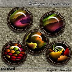 Fraktalkunst  Set 4 Regenbogen  Digital Design  20 von Sakshmi