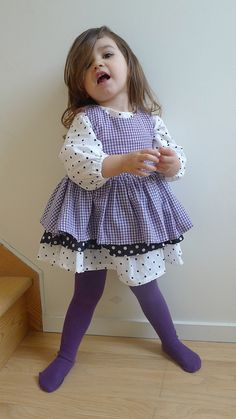 Olivia is wearing: Long sleeve tunic dress and tunic blouse from The House of Brooklyn Rascals, tights are HM