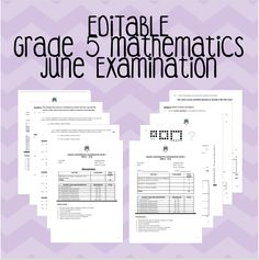 This product includes Grade 5 June Examinations Paper 1 and 2. They are fully editable in Microsoft Word format. The papers total 100 marks together and cover all Grade 5 content for Term 1 and 2 including: – Whole numbers – Counting, ordering and comparing numbers = Addition and subtraction of whole numbers – Common … Comparing Numbers, Number Patterns, Multiplication And Division, Addition And Subtraction, Microsoft Word, Fractions, Algebra, Mathematics, Sentences