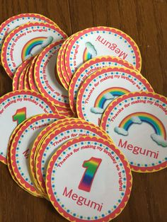 personalized rainbow sticker