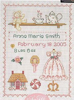 Baby Birth Announcements - Cross Stitch Patterns & Kits (Page 4)