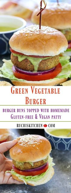 #ad Are you ready for a flavor-packed burger that is made from simple ingredients and comes together in a jiffy? Then this Green Vegetable Burger is just for you. This burger is made with gluten-free and vegan patties that are great for summer outings and picnics. #Respecthebun@PepperidgeFarms #burgers #glutenfree #vegan #greenveggieburger #picnics #potluck #appetizer #Glutenfreeburger #veganvegguepatty #picnicfood #veggiepatty