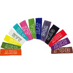 Sorority Headbands with Greek Lettering | Key Your Spirit, LLC Many headband colors to choose from at http://www.keyyourspirit.com/collections/sorority-apparel/products/sorority-headband-with-greek-letters