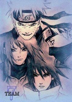 Team 7. Naruto. Sasuke. Sakura. Kakashi. Awesome pic