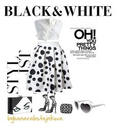 Black & White Summer by hanarabstejnkova on Polyvore featuring Chicwish, Pierre Hardy, Charlotte Olympia and Chanel