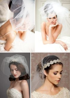 Vintage wedding veils for the fashion forward bride. | Roses & Lace