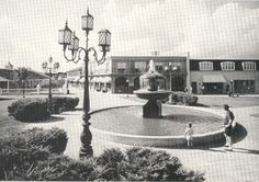 "This, of course, is  ""The Fountain""  at Westbury Square without soap bubbles in it.  All four of these pictures are from the 1960s."