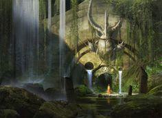Magic The Gathering - Guildgate, Eytan Zana on ArtStation at https://www.artstation.com/artwork/magic-the-gathering-guildgate